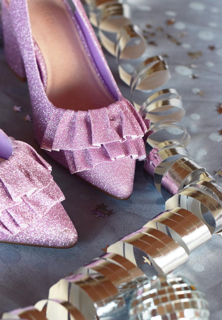 bianco-frill-shoes-pink-glitter-glimmer-sko-stiletter-missjeanett-nytaarssko