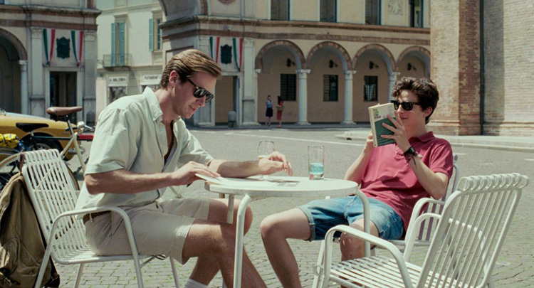 Call me by your name movie - Armie Hammer and Timothee Chalamet