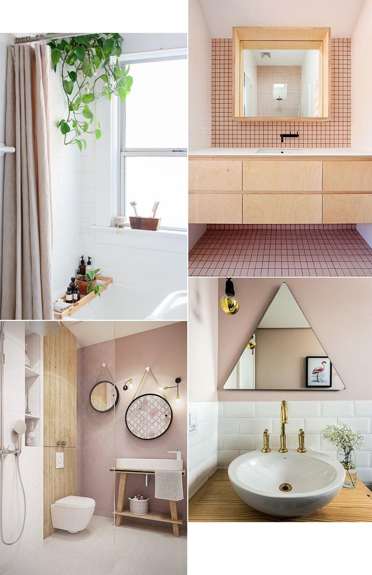 Pink bathroom - lyserødt badeværelse gæstetoilet