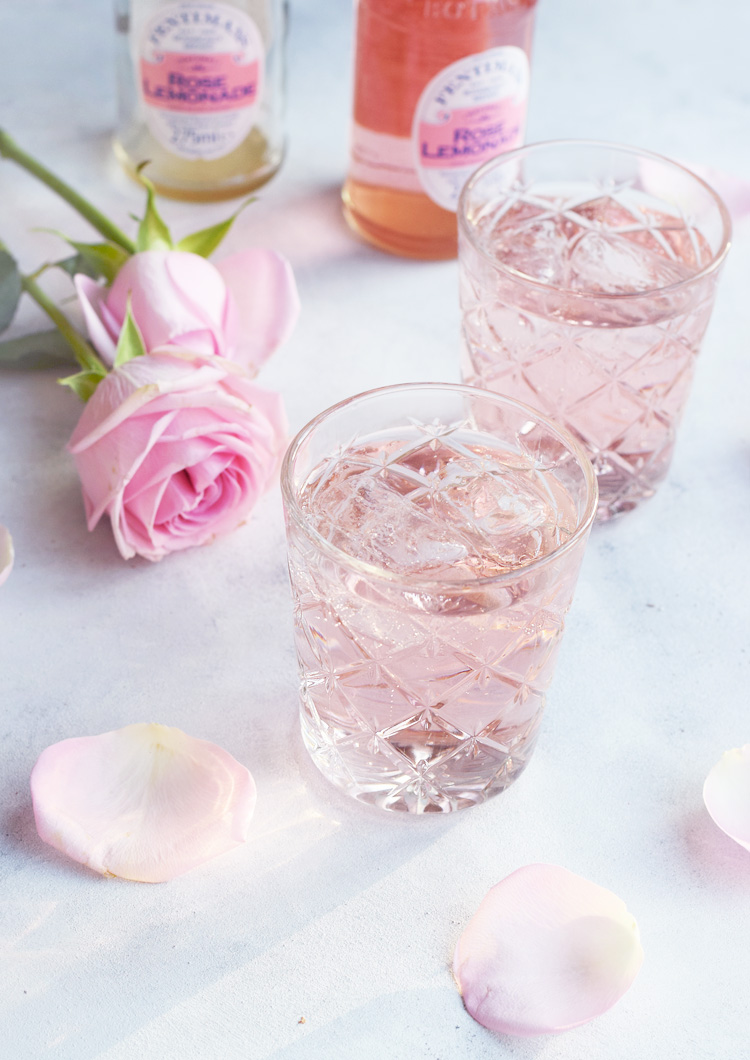 Fentimans Rose Lemonade - pink gin tonic
