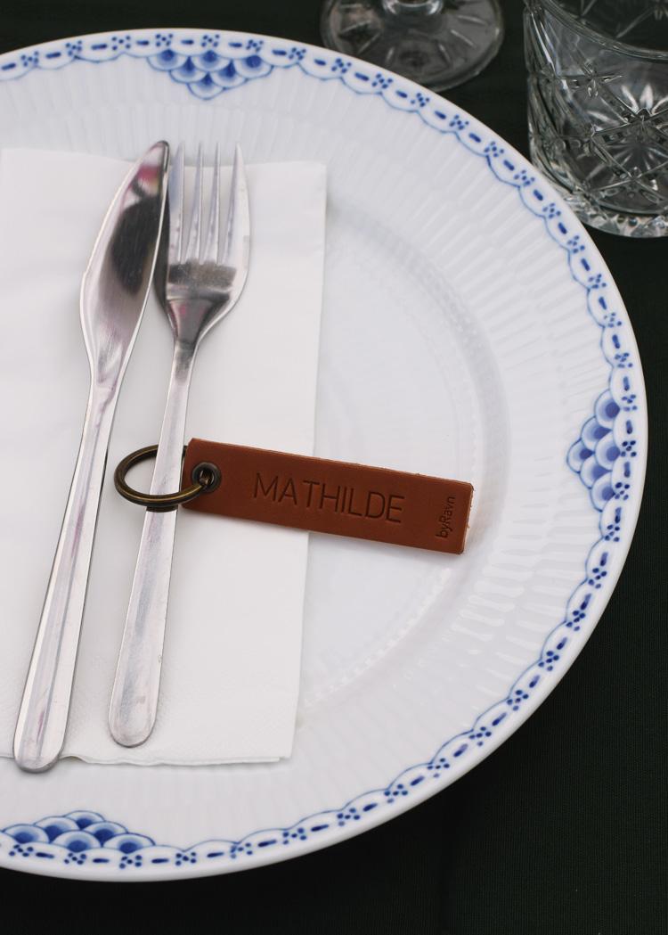 Havefest bordkort i læder
