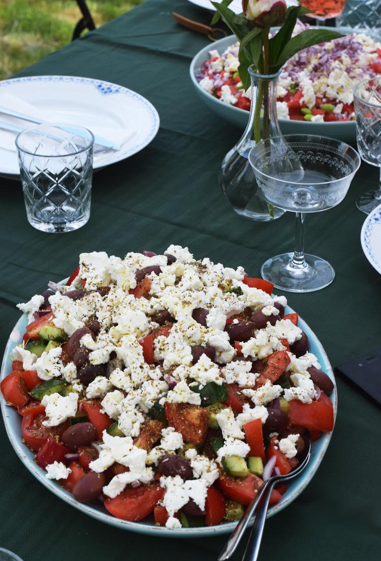 Havefest - grill græsk salat