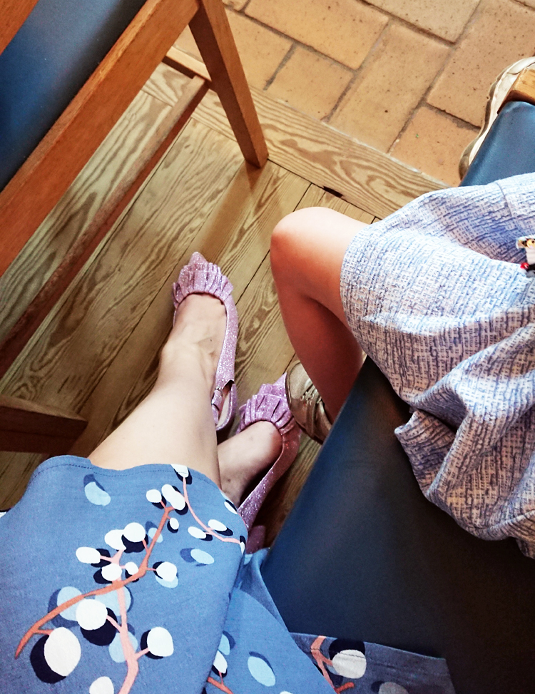 Bianco glitter sko