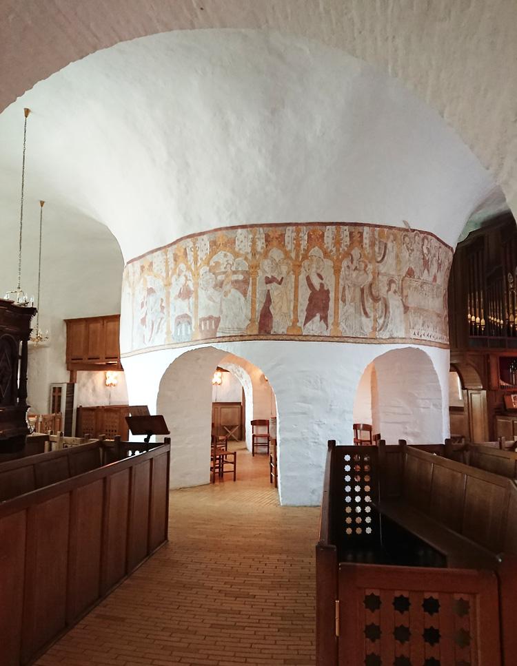 Rundkirker på Bornholm indvendig - Østerlars - Bornholm Guide