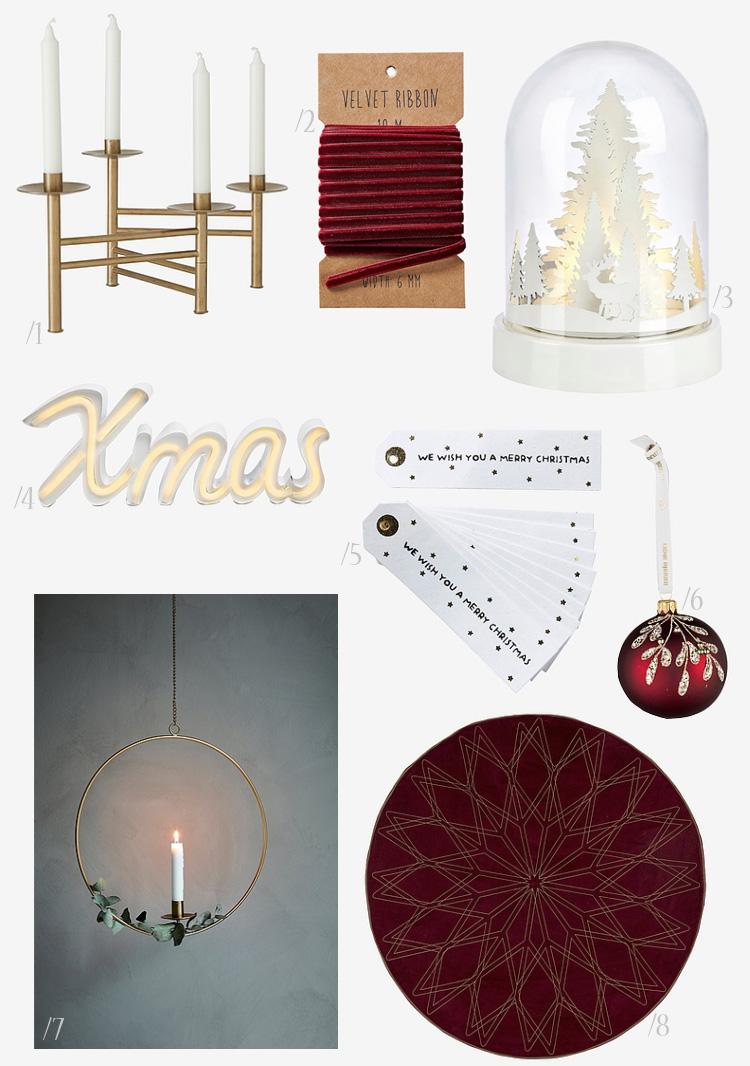 Ellos Christmas - juletræsdug Xmas skilt adventsstage