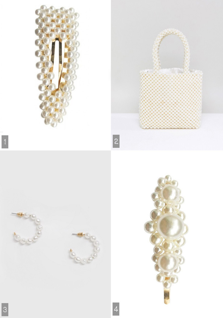 perle hårspænde perle taske sui ava everneed