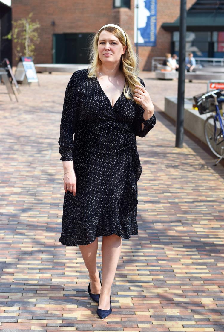 Noe Noir anjuska dot dress