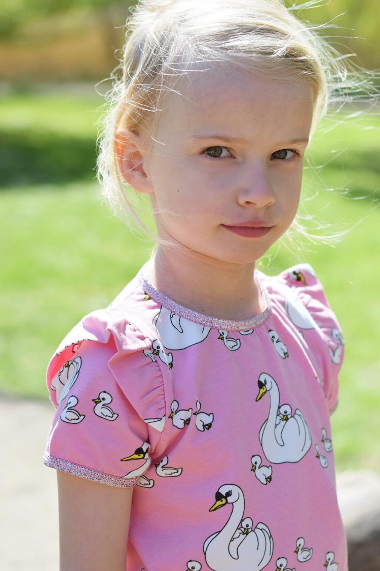 Småfolk lyserøde svaner t-shirt nederdel