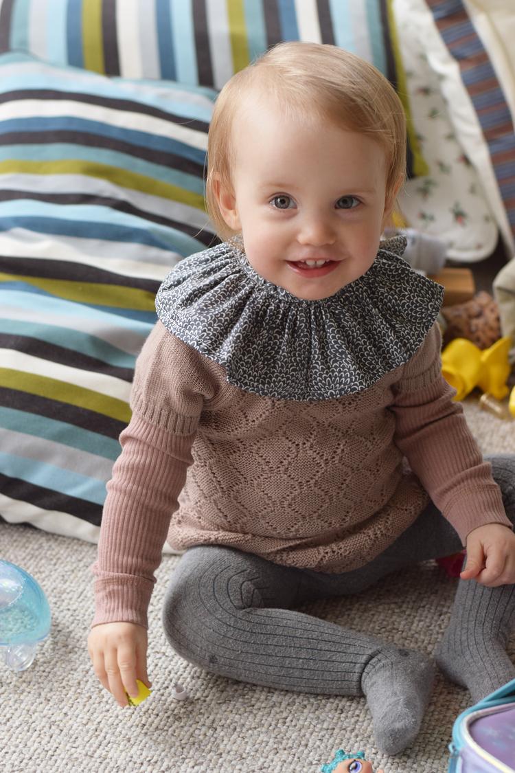 Konges sløjd krave Mini Q Ture merinould kjole