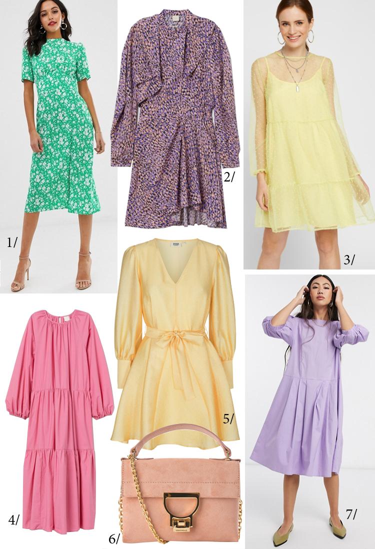 gule kjoler lilla