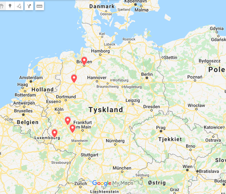 Ruten Til Vores Road Trip I Tyskland Bremen Trier Og Osnabruck