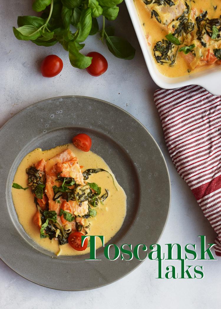 opskrift på toscansk laks med tomater