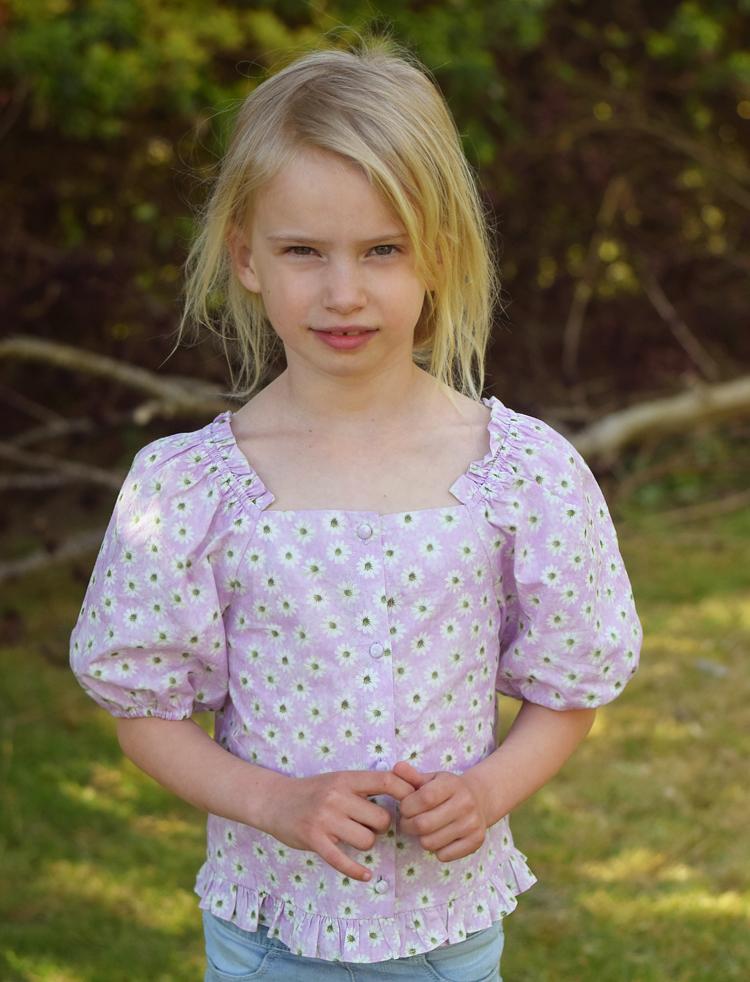 Bella lilla bluse fra Zara