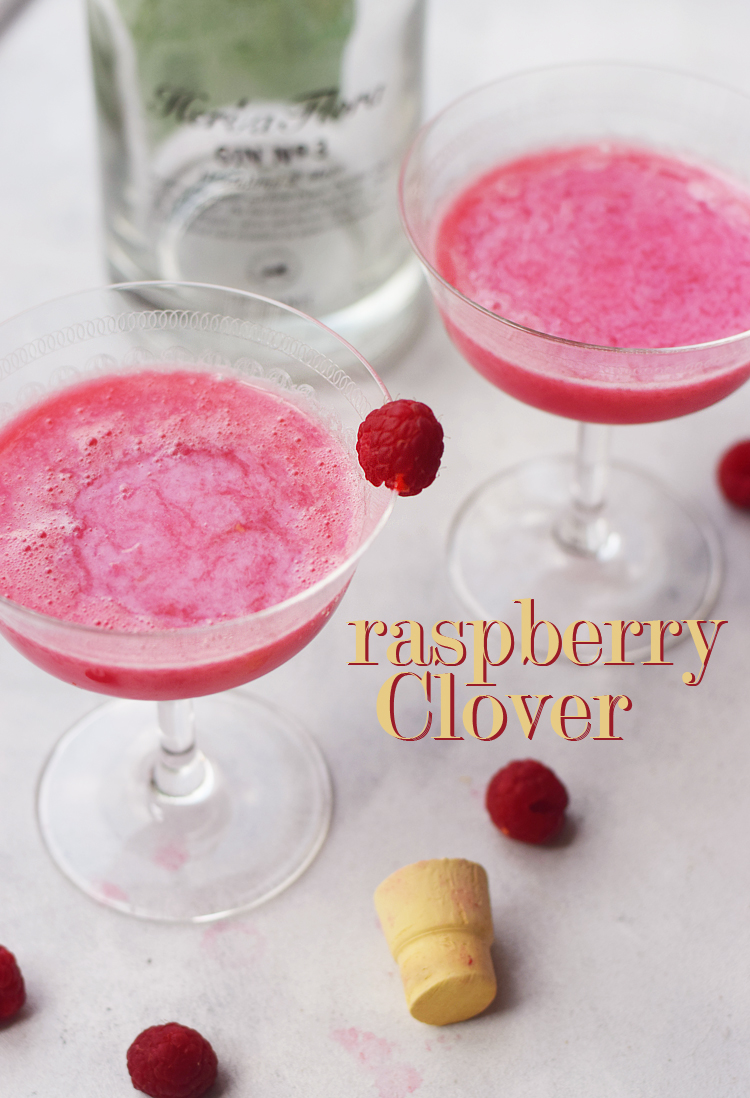Raspberry clover cocktail opskrift