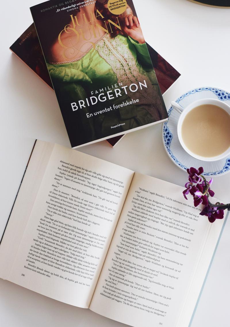 oversigt over alle Bridgerton bøger