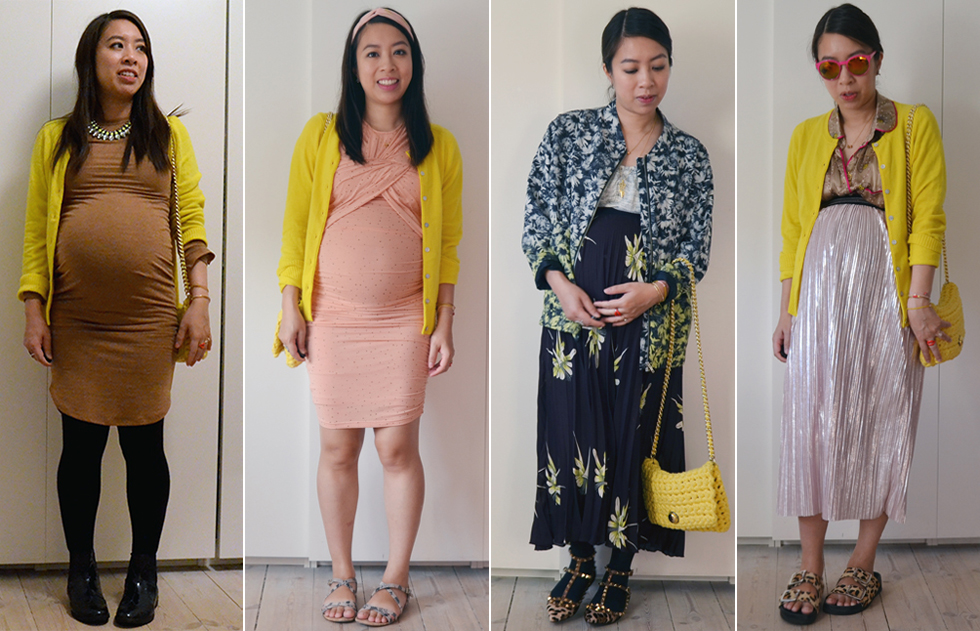outfit-gul-gravid