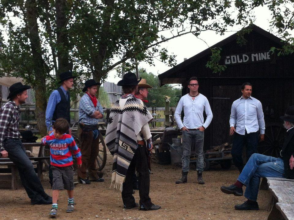 Optagelser på Texas Ranch lidt udenfør Køge.