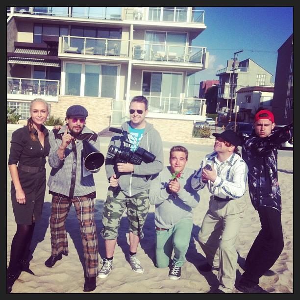 Optagelser på Venice Beach.
