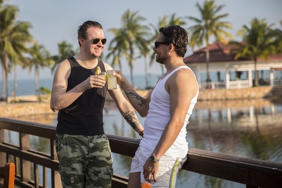 Januar 2014 - Deni og jeg puster ud på kongens strande i Thailand og lader op til nye projekter i det nye år.