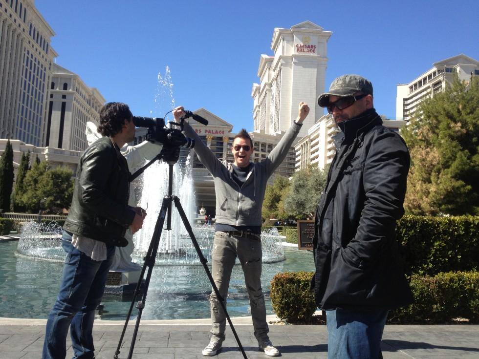 Optagelser i Las Vegas.