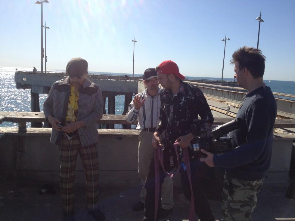 Film Crew sketch på Venice Beach, USA