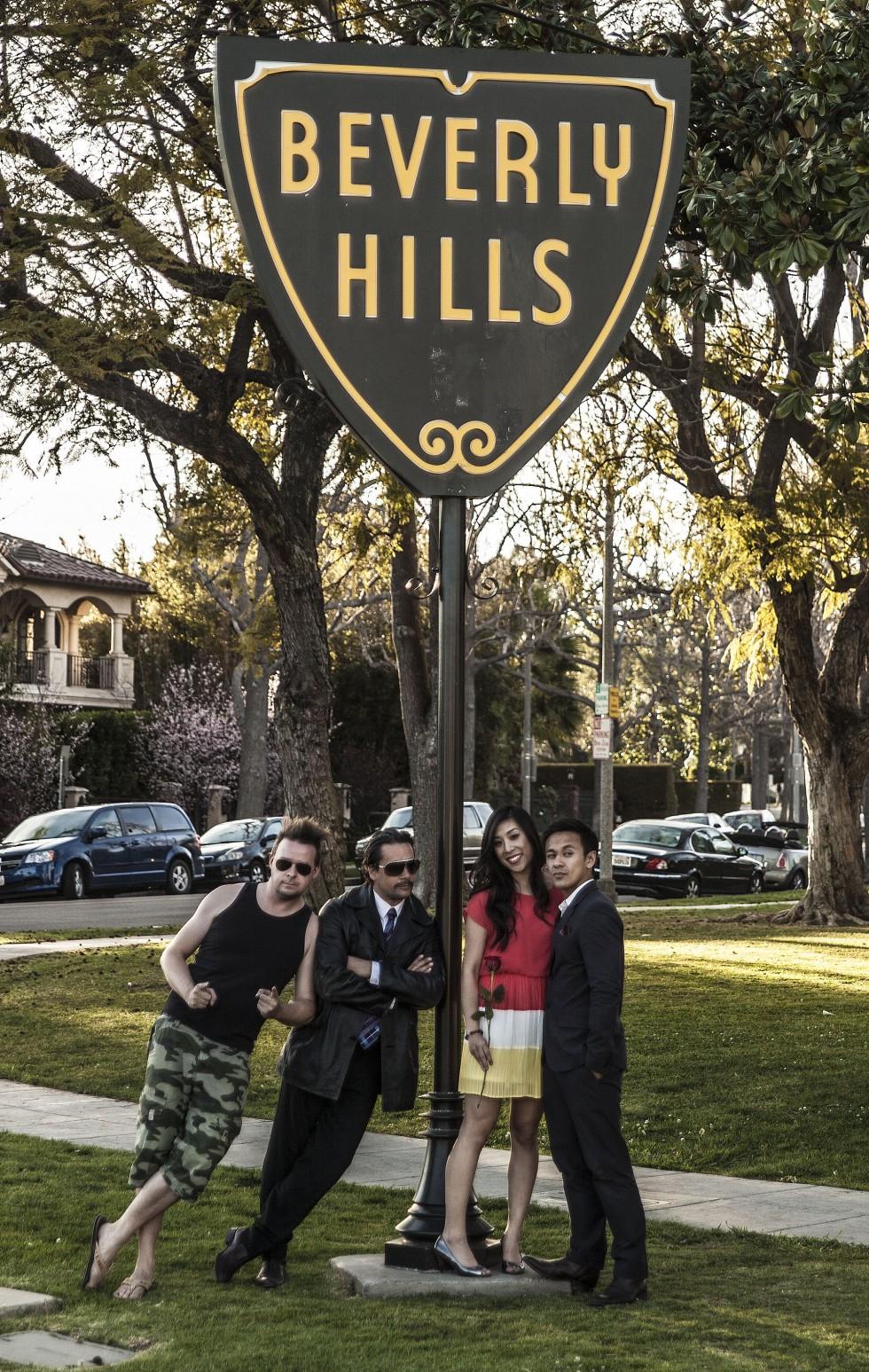Optagelser i Beverly Hills.