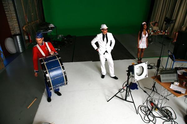 Musikvideooptagelser med The Benefits