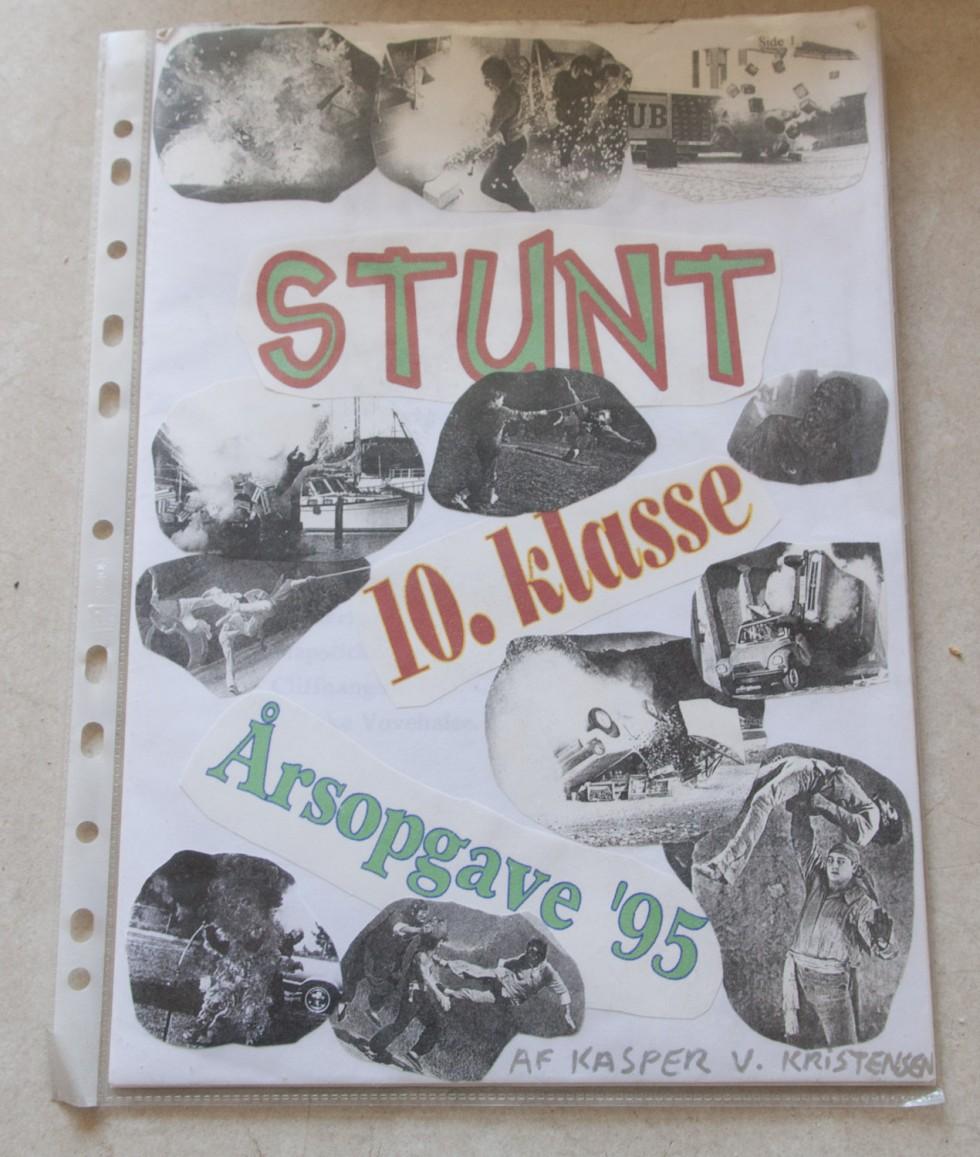 Stunt har altid været en af mine helt store hobbyer. I 1995 skrev jeg endda en skoleopgave om emnet.