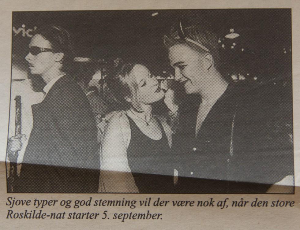 """Skummel herre """"in character"""" under en performancehappening i Roskildes gader."""