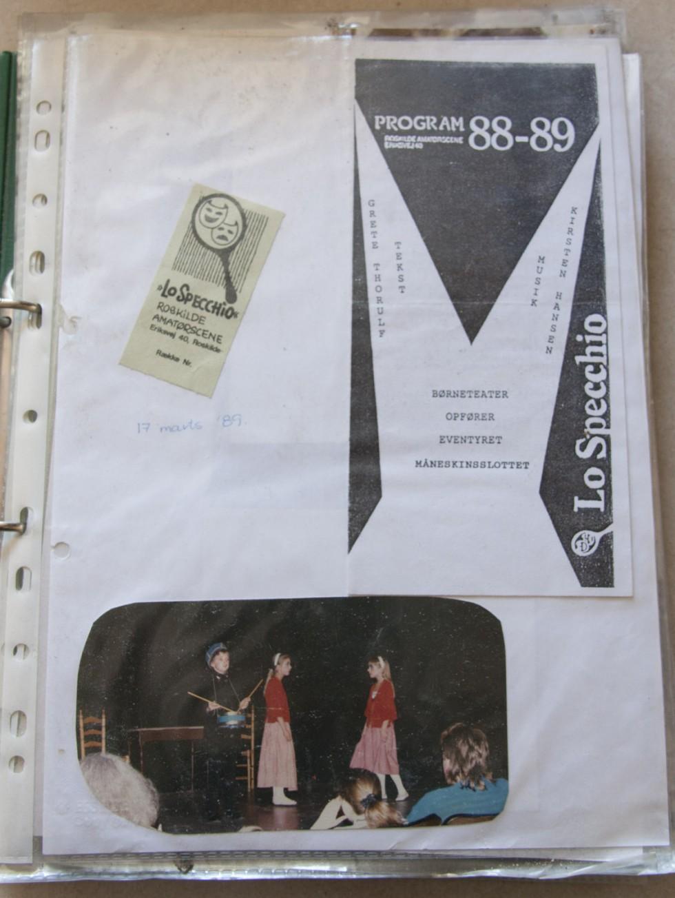 Min første teateroptræden, 1989 - jeg var dødnervøs!