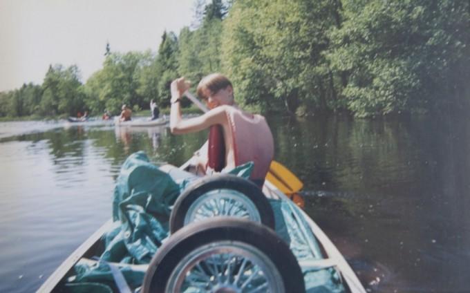 Kanotur i Sverige 2 uger efter skolestart i min nye klasse på Roskilde Lille Skole, 1992.