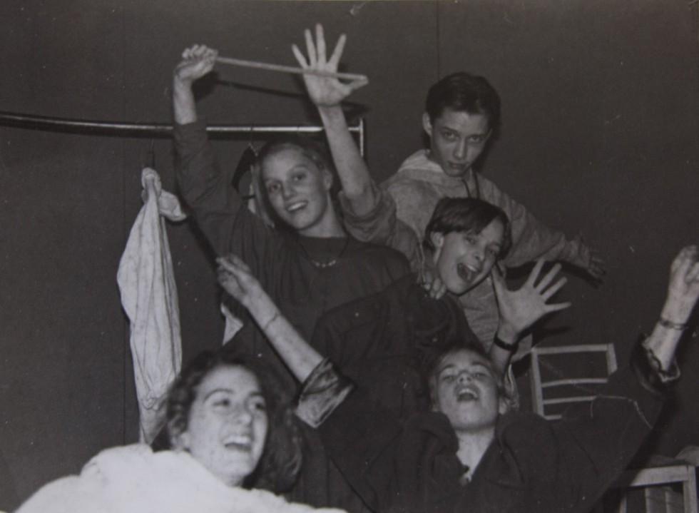 Backstagebillede fra teatret Lo Specchio, som var en stor del af mit liv i 13-14 år.