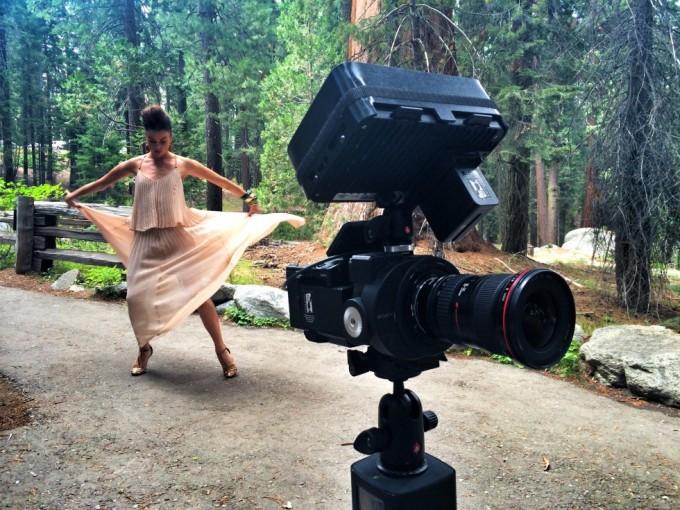 Optagelser til dansevideo med Malene Østergaard