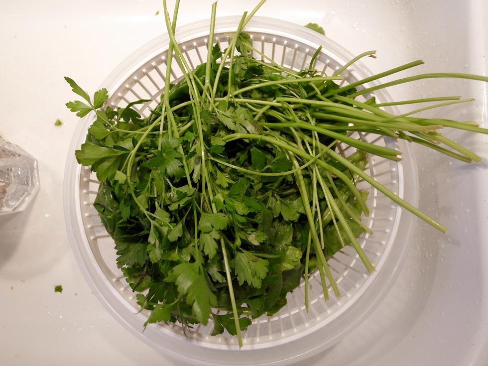 spinat og persille