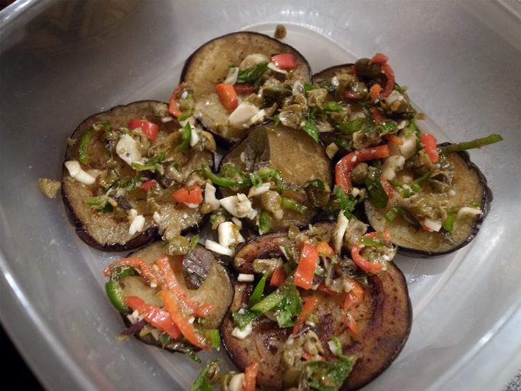 første lag auberginesalat