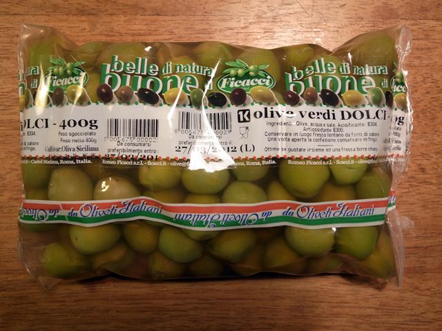 oliven dolci