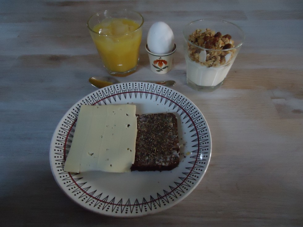 Sådan så mit morgenmåltid ud, da jeg startede kuren.