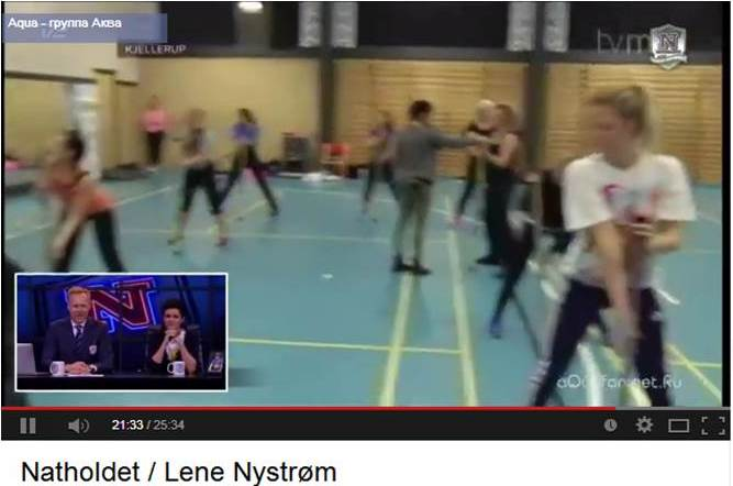 Natholdet viste FrækFitness for Lene Nystrøm fra AQUA