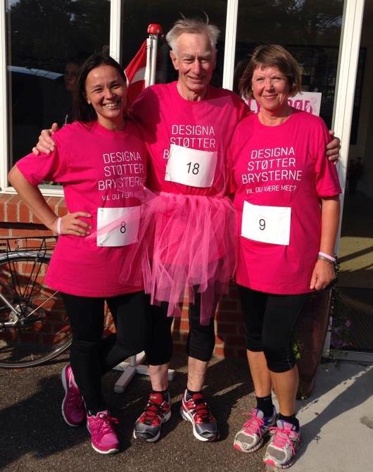 Lyserøde Løb i Thorning, hvor vi gav den gas med den lyserøde farve istedet!!