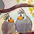 Der er ikke så meget at sige om fotoet - det er et par sjove fugle , som jeg tog et foto af....