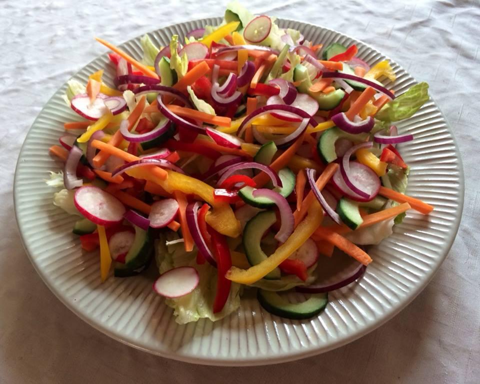 salat til  bøf