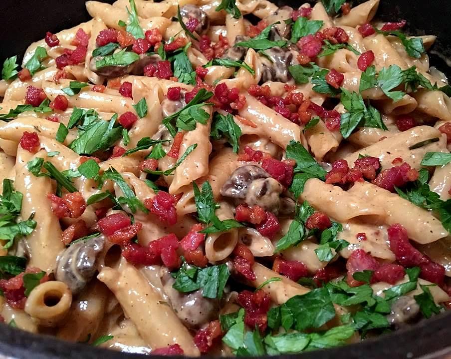pasta-med-markchampignons-gryde-mv