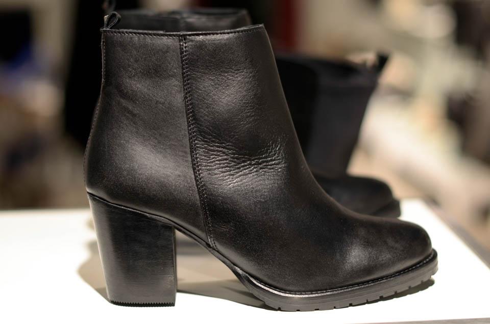 høj bianco læder støvle