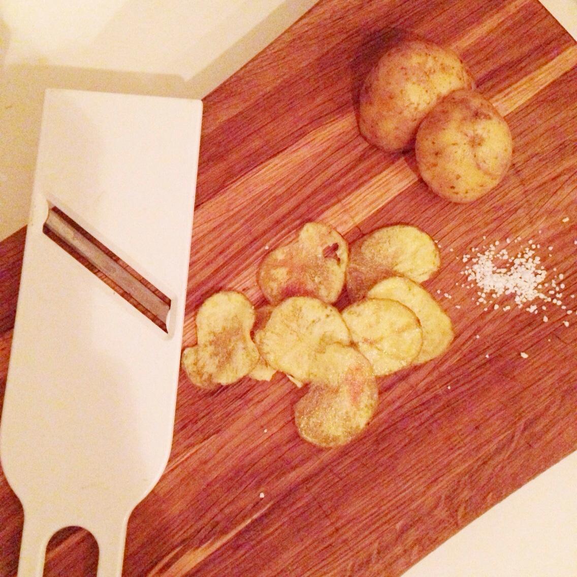 hjemmelavede chips på 5 minutter