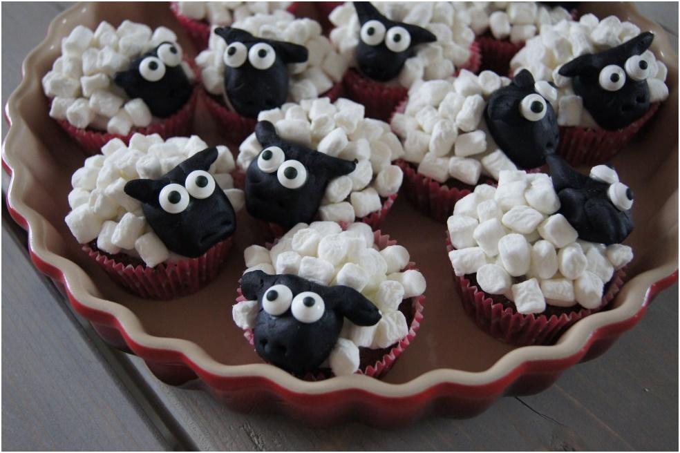 muffin får med skumfiduser