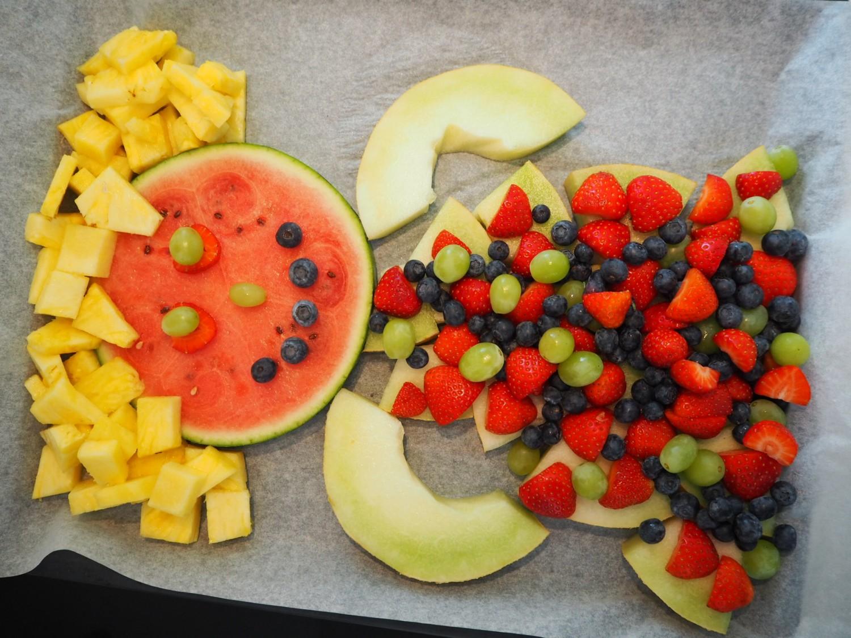 Frugtfigur fødselsdag i børnehave