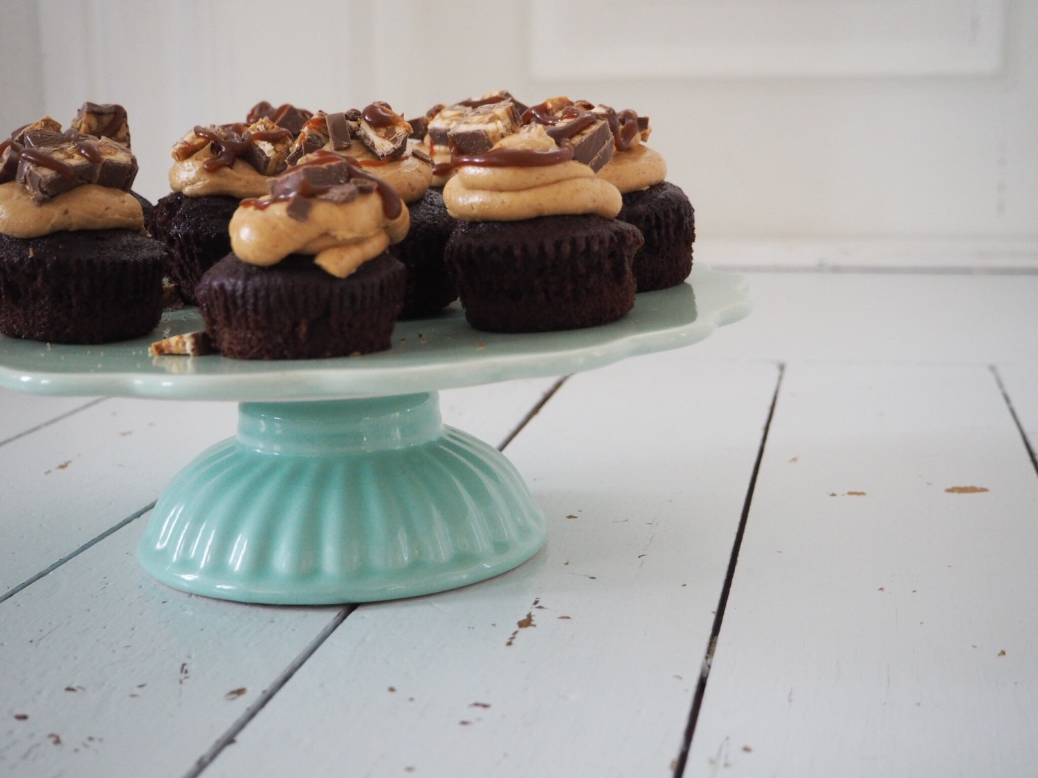Opskrift Snickers cupcakes