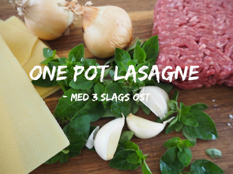 one pot lasagne med tre slags ost