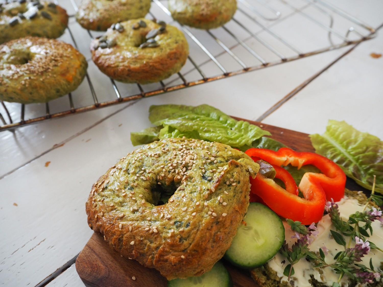 opskrift-spinat-bagels