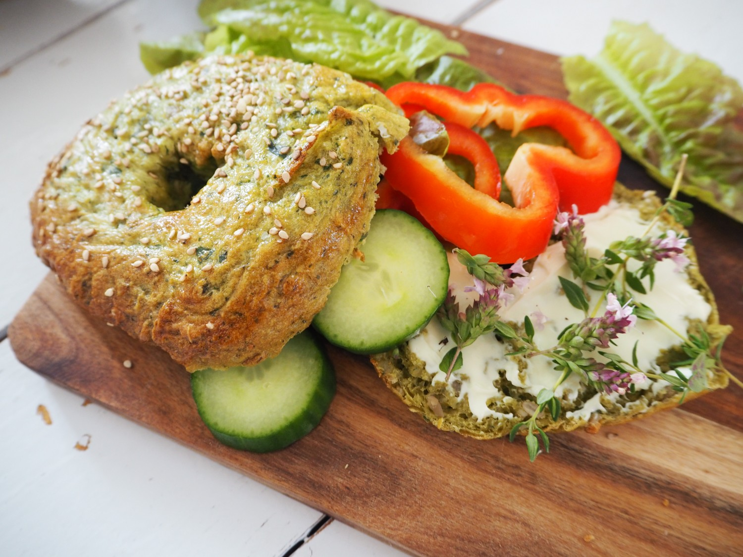 bagels-med-spinat